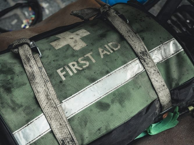 Prepare a first aid kit