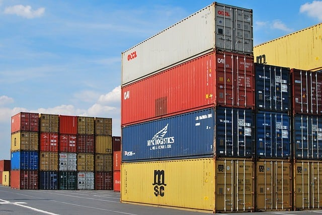 Shipping containers used for export purposes